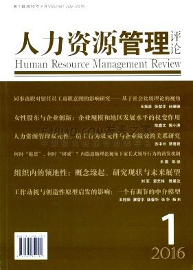 人力资源管理评论杂志